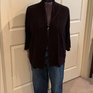 Talbots Long open sweater 3X